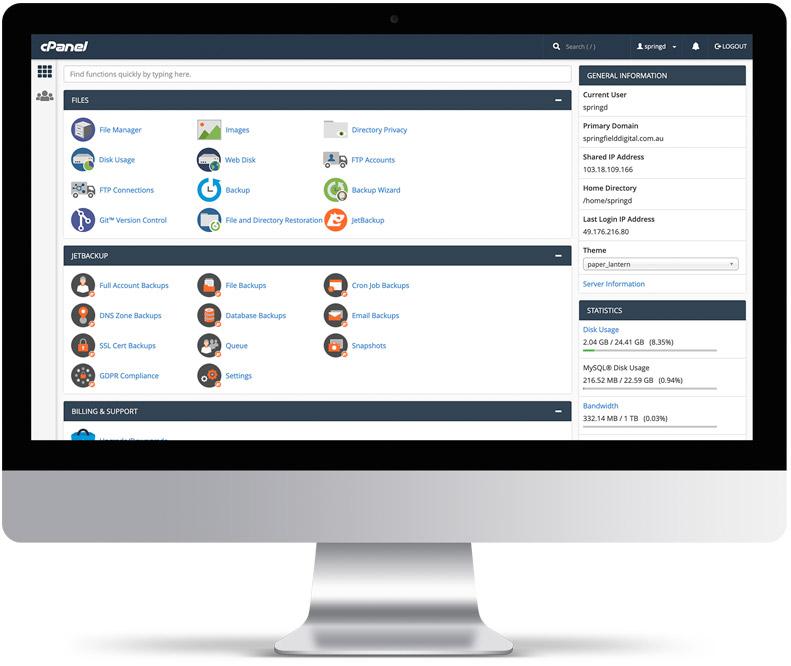 website-maintenance-cpanel-springfield-digital