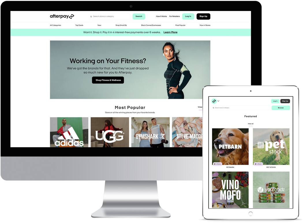 Afterpay Integration - Afterpay Website 2021 - Springfield Digital