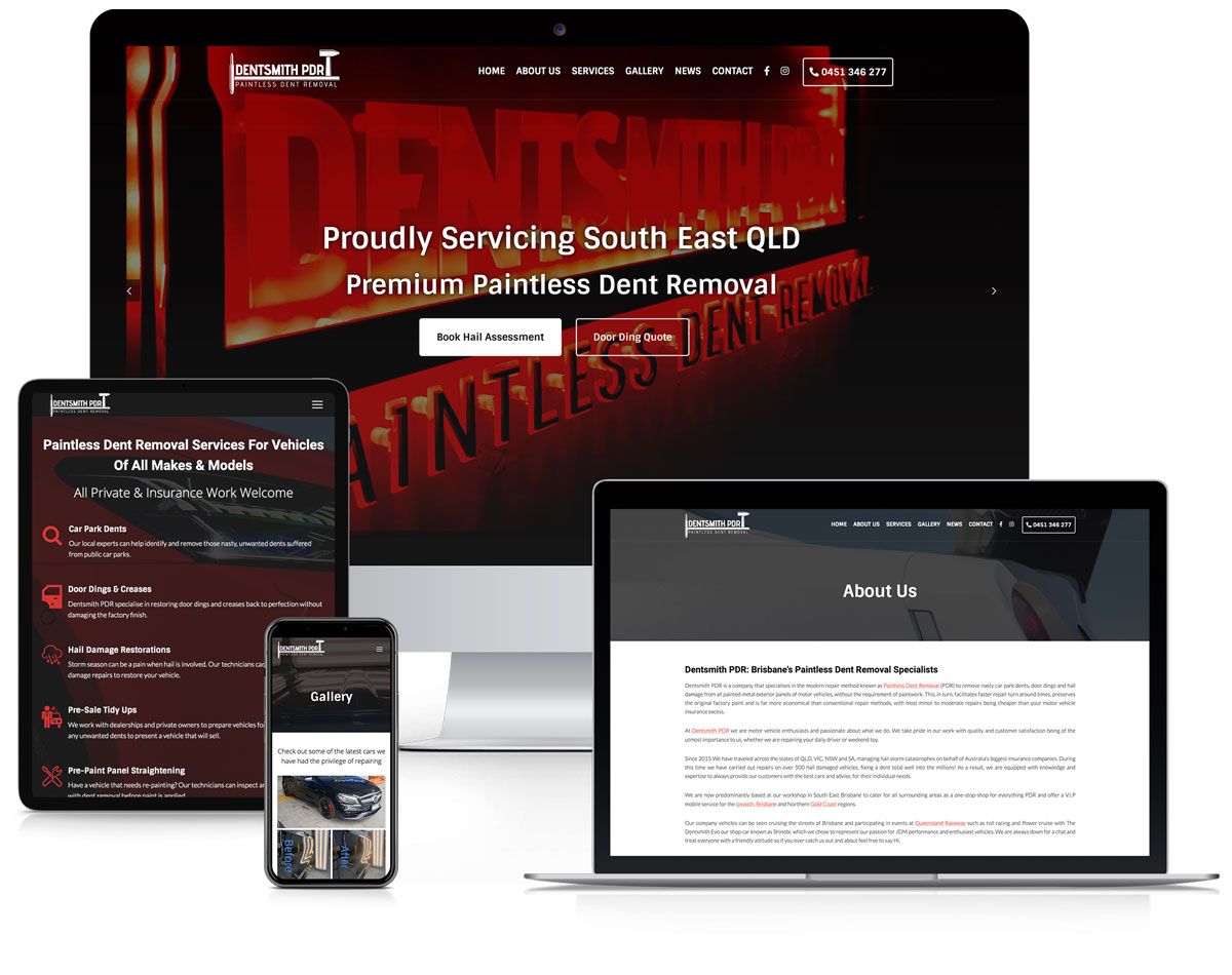 WordPress Website Design & Development Brisbane Springfield QLD - Portfolio Dentsmith PDR Website